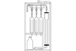 Aparat Orsata do analizy gazów 3 naczyniowy