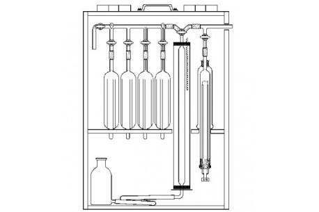 Aparat Orsata do analizy gazów 4 naczyniowy