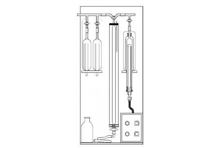 Aparat Orsata do analizy gazów 5(6) naczyniowy