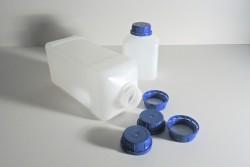 Butelka z HDPE o przekroju prostokątnym