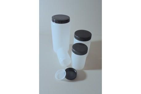 Słoiki i pojemniki z tworzyw sztucznych zakręcane