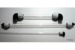 Rury szklane wodowskazowe, szkło borokrzemowe, o długości 2000 mm